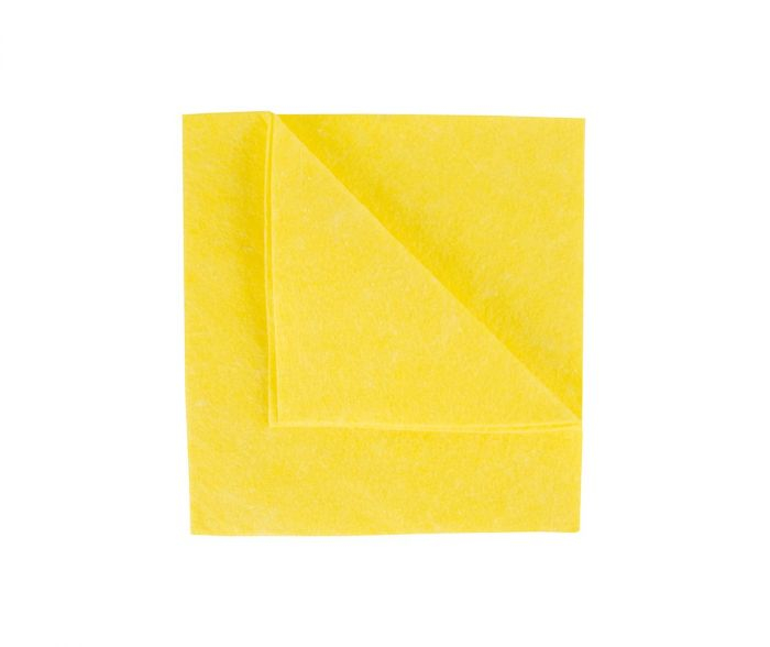 38X40CM HEAVY MIGHTY WIPE PLAIN BAG YELLOW