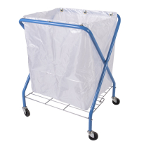 FOLDING WASTE CART WITH HEAVY DUTY BAG