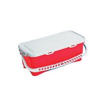 10 LITRE TOP DOWN BUCKET & LID RED