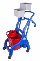 QR SOCKET MOPPING TROLLEY RED