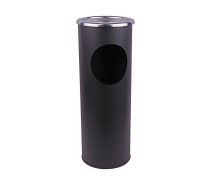 COMBINED ASH STAND AND LITTER BIN BLACK