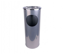COMBINED ASH STAND AND LITTER BIN SILVER