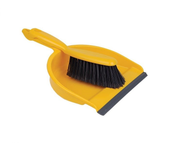 Brushware DUSTPAN & SOFT BRUSH YELLOW - Key Engineering & Hygiene