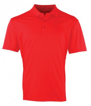 PUBLIC SERVICE MENS STRAWBERRY RED POLO SHIRT