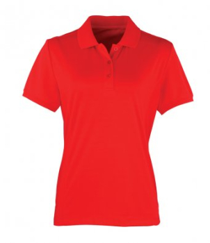 PUBLIC SERVICE LADIES STRAWBERRY RED POLO SHIRT