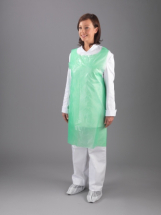 GREEN POLY APRON 27inch X 42inch ON ROLL (PER 200)