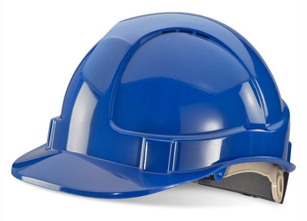 B-BRAND SAFETY HELMET BLUE WHEEL RATCHET HEADGEAR
