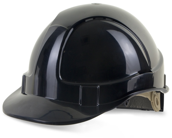 B-BRAND SAFETY HELMET BLACK WHEEL RATCHET HEADGEAR