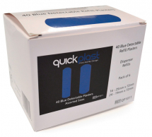 CLICK MEDICAL QUICKPLAST BLUE DETECTABLE PLASTERS 6 x 40