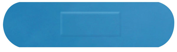 HYGIO PLAST BLUE DETECTABLE PLASTERS 100 MEDIUM STRIP
