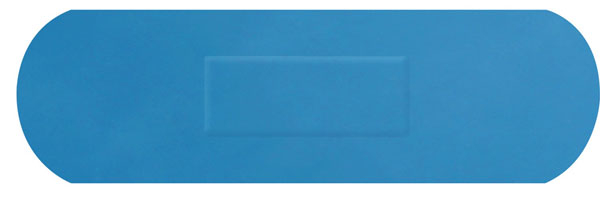 HYGIO PLAST BLUE DETECTABLE PLASTERS 100 SENIOR STRIP