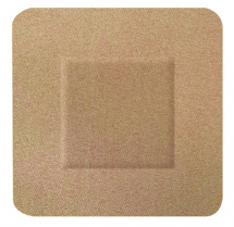 HYGIO PLAST FABRIC PLASTERS 100 SQUARE 38x38mm