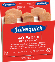 SALVEQUICK FABRIC PLASTERS REFILL PACK 6 x 40 PLASTERS