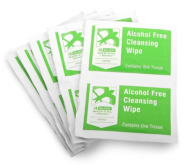 CLICK MEDICAL ALCOHOL FREE WIPES PK 10