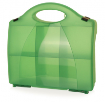 CLICK MEDICAL 861 GREEN ECLIPSE BOX WITH PARTITIONS