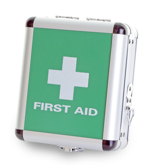 CLICK MEDICAL SMALL ALUMINIUM FIRST AID CASE