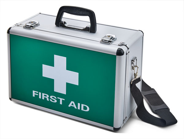 CLICK MEDICAL LARGE ALUMINIUM FIRST AID CASE
