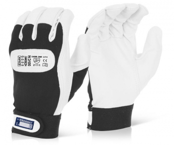 DRIVERS GLOVE VELCRO CUFF MED