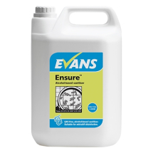 ENSURE ALCOHOL SANITISER 5LTR DISINFECTANT CLEANER FOR FOOD