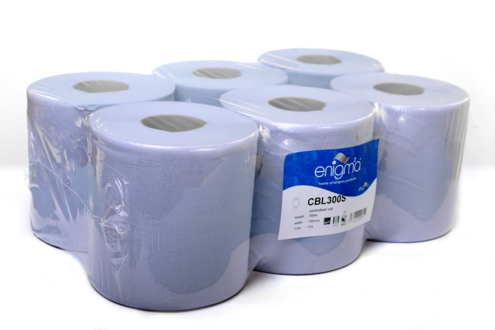 BLUE 1 PLY CENTREFEED195MM X 288M 800 SHEETS