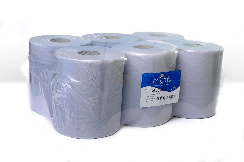 BLUE 3 PLY CENTREFEED 135M X 230MM 375 SHEETS