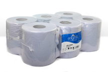 BLUE 2 PLY CENTREFEED ROLLS 150M X 190MM X 70MM EMBOSSED