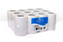 WHITE 1 PLY MINI CENTREFEED 120M X 190MM X 70MM