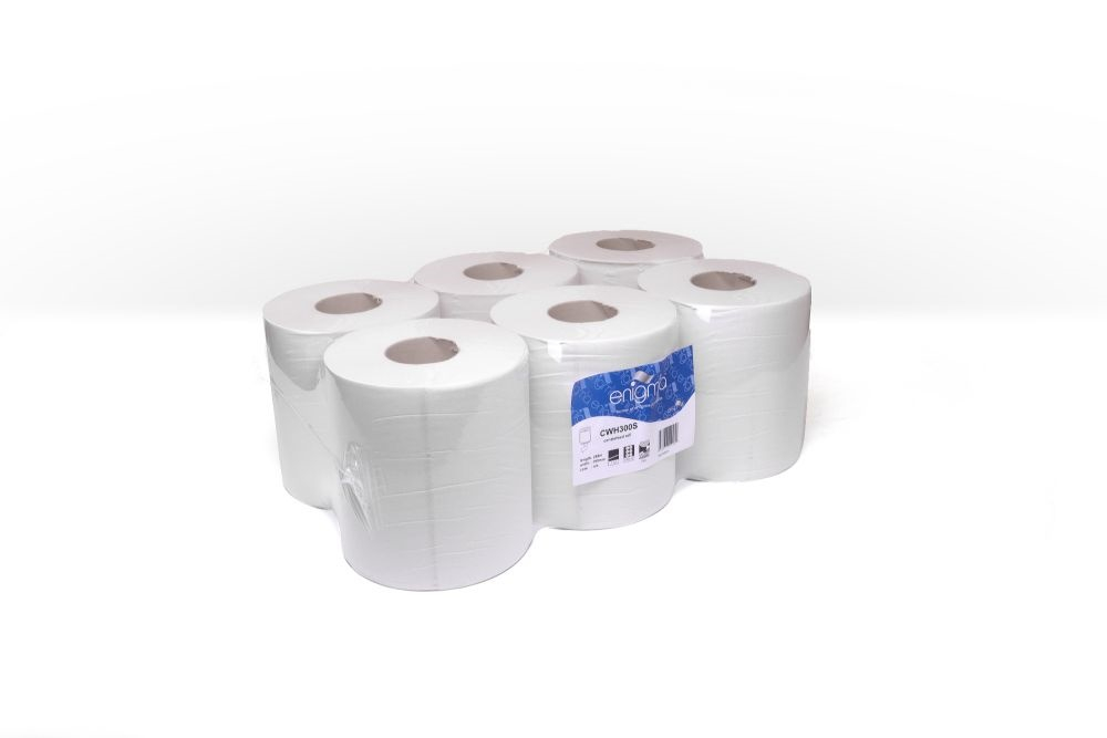 WHITE 1 PLY CENTREFEED 195MM X288M 800 SHEETS