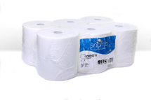 WHITE 2 PLY CONTINUOUS ROLL TOWEL 200MM X 6 ROLLS