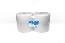 WHITE 2 PLY INDUSTRIAL ROLLS 280MM