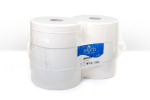 WHITE 2 PLY JUMBO TOILET ROLL 300M 60MM CORE