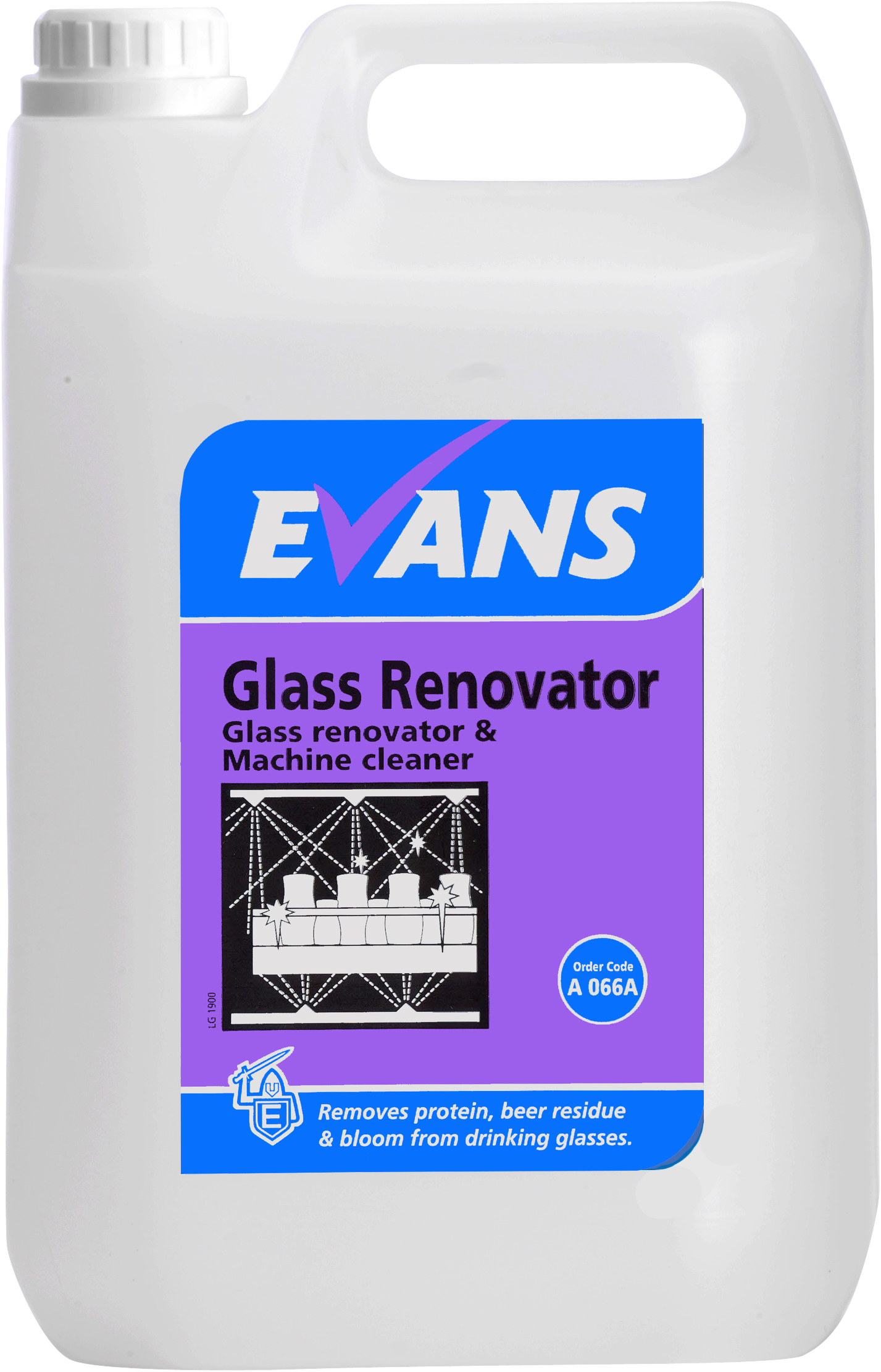 GLASS RENOVATOR & MACHINE CLEANER 2.5LTR