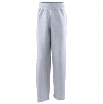AWDIS CAMPUS OPEN HEM SWEAT PANTS HEATHER GREY S