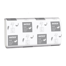 KATRIN 100645 EMB 2 PLY WHITE INTER-FOLD HAND TOWELS