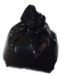 MEDIUM BLACK REFUSE SACK 18X29X39 140G