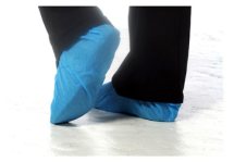 16inch BLUE CPE DISPOSABLE OVERSHOE ( PACK OF 100 )