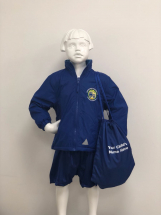 ROYAL BLUE KIDS GYMSAC WITH PRINTED LONGSANDS LOGO