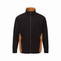 ORN SILVERSTONE FLEECE MEDIUM BLACK AND ORANGE