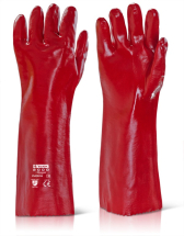 PVC GAUNTLET RED 18inch