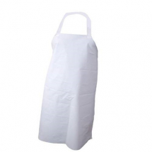 PVC NYLON APRON WITH HALTER & TIES 42inch LONG WHITE