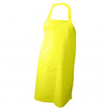 PVC NYLON APRON WITH HALTER & TIES 42inch LONG YELLOW