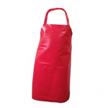 PVC NYLON APRON WITH HALTER & TIES 54inch LONG RED