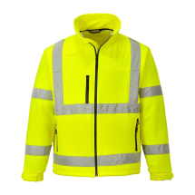 HI-VIS SOFTSHELL JACKET SIZE MED YELLOW