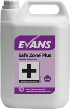 SAFEZONE PLUS VIRUCIDAL DISINFECTANT CLEANER 5LTR
