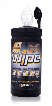 TYGRIS ONE WIPE INDUSTRIAL HAND WIPE (110 WIPES PER TUB)