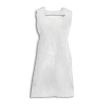WHITE POLYTHENE DISPOSABLE APRONS PACK 600