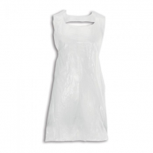 WHITE POLYTHENE DISPOSABLE APRONS PACK 500