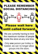 PLS REMEMBER SOCIAL DISTANCING 5MM PVC SIGN A2 594MM X 420MM