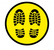 FOOT PRINT 300MM FLOOR STICKER PK OF 5