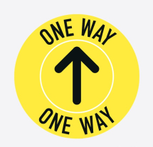 ONE WAY 300MM FLOOR STICKER PK OF 5